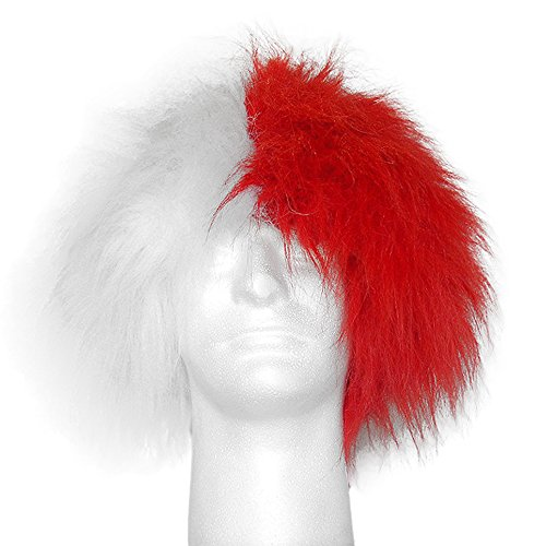 Sports Novelties Wig, Half Red and Half -