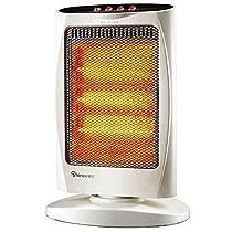 GUO@ White Desktop Shaking Head Speed Heating Heater Quartz Tube Heating Tilt-Protection 3 Speed Adjustment 400W/800W/1200W (360mm260mm520mm) Space Heaters