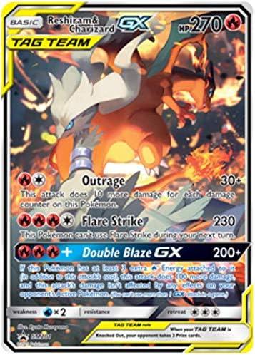 Pokemon SM TCG Reshiram /& Charizard GX SM201 Ultra Rare Black Star Promo Card