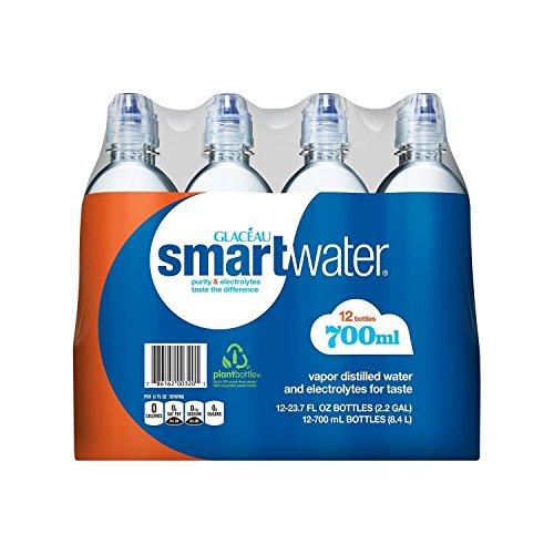 Glaceau SmartWater Water with Sports Cap (700ML bottles, 12 pk.) (Cap Smart)
