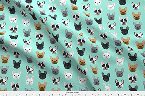 french bulldog fleece fabric - 9