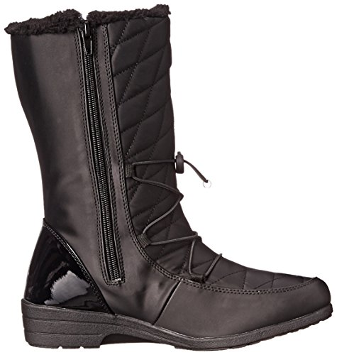 Women's Leah Black Winter Tundra Boot BOnxag8Ow