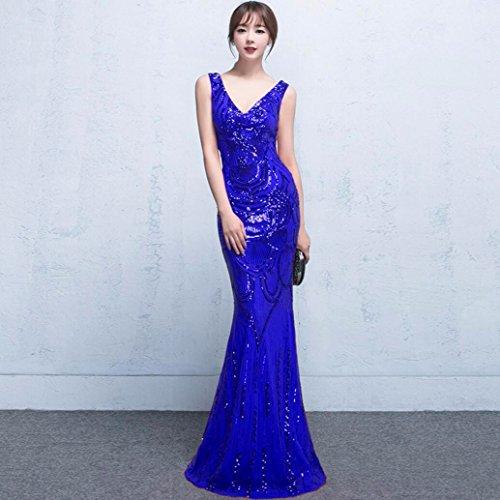WBXAZL brindis un de un de Noche pez Azul Novia la un Cena de de Vestido Vestido un es Anfitrión Boda Vestido una La Cola un InqPrFI