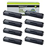 Greencycle Compatible Toner Cartridge Replacement for Samsung 111S MLT-D111S Black Compatible with Samsung Xpress SL-M2020W Xpress SL-M2070W Xpress SL-M2070FW Printer 8 Packs