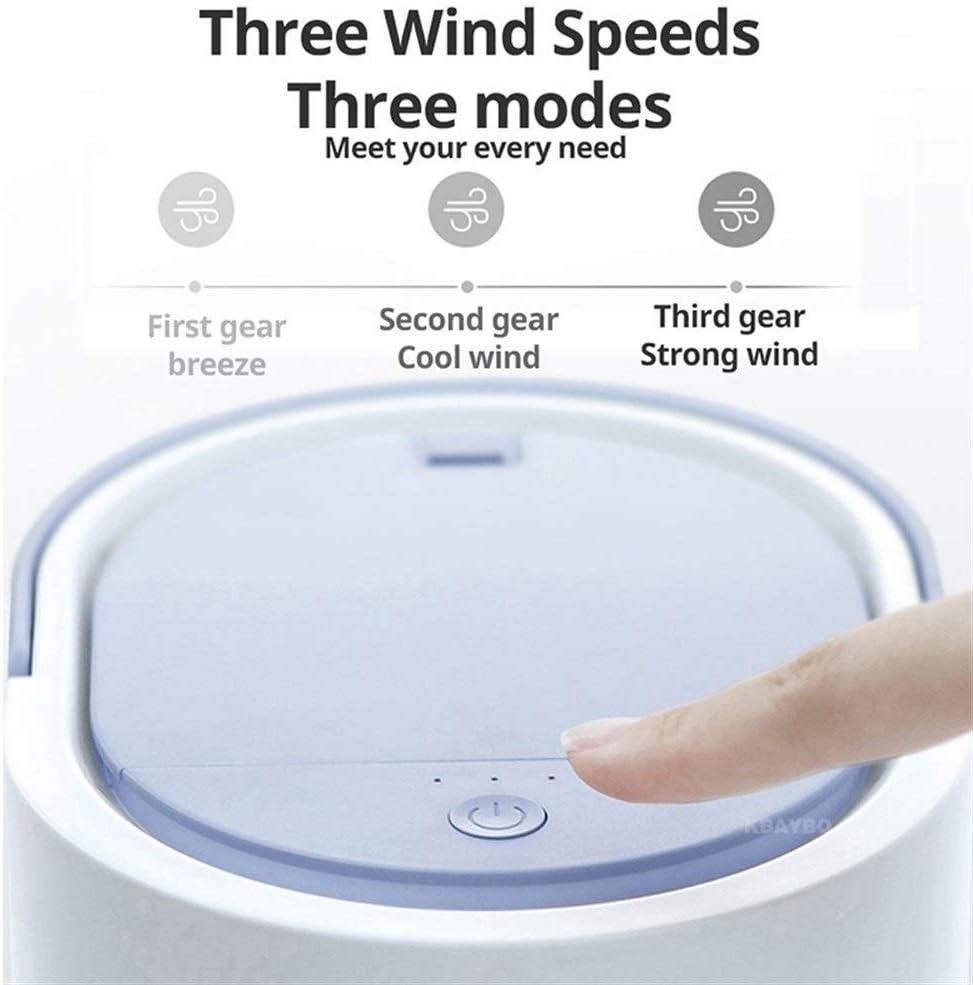 Mini Portable Cooling Fan Portable Fan Rechargeable USB Air Cooling Fan Small Desk Fan Color : Grey