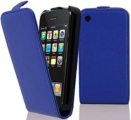 Cadorabo Coque pour Apple iPhone 3 / iPhone 3GS en Bleu CÉLESTE - Housse Protection en Style Flip en Similicuir Structuré - Etui Poche Folio Case ...