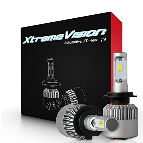 XtremeVision 7G 72W 16,000LM - H7 LED Headlight Conversion Kit - 6500K CSP LED - 2017 Model by XtremeVision