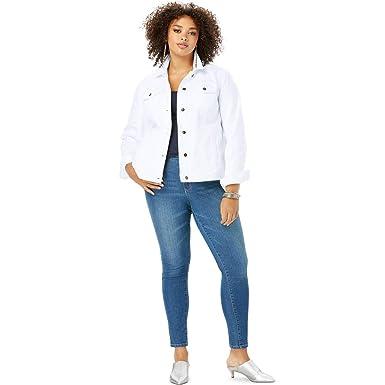 396f0a67df306 Roamans Women s Plus Size Essential Denim Jacket at Amazon Women s ...