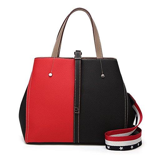 Femme VogueZone009 Handle PU Top Cuir fourre Zippers Sacs Tout Sacs SSrx1wTdq