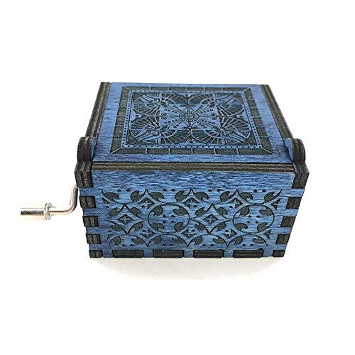 (Dream Loom Wooden Music Box,Hand Crank Classical Carved Wooden Musical Box,Gift for Kids,Family and Friends)