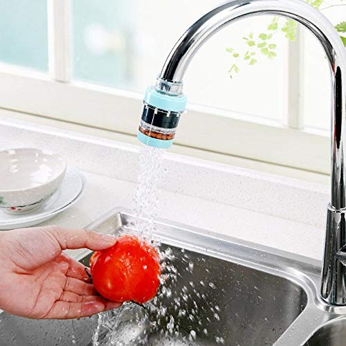 HOME CUBE® Kitchen Bathroom Faucet Extenders Water Saving Faucet Double Purifier Medical Stone Magnet Impurity Filter Faucet Accessories – Random Color