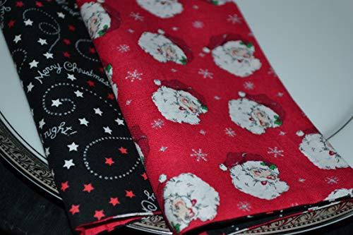 Santa Claus Reversible Cloth Napkins/Set of 8