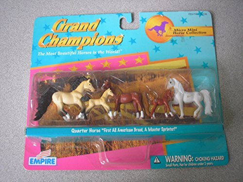 Grand Champions Micro Mini Horse Collection Quarter Horse Set