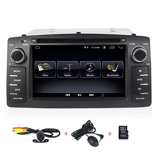 Car Stereo GPS Player Quad Core Android 8.0 System for Toyota Corolla E120 Auto Radio Navigation with Backup Camera WiFi SWC Function