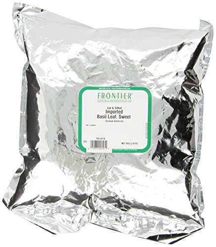 Herb Basil - Frontier Basil Leaf, Sweet-imported, C/s, 16 Ounce Bags (Pack of 2)