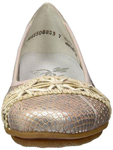 Rieker 43956, Bailarinas para Mujer Multicolor (Rose-silver/rose-silver / 31)
