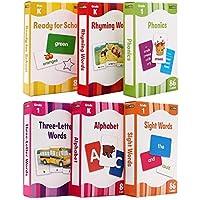 英文原版 Flash Cards Flash Kids The Complete Book of Sight Words配套字卡6盒Alphabet/3 Letter Words/Rhyming Words/ Sight Words/ Phonics/ Ready for School少儿童英文启蒙高效闪卡
