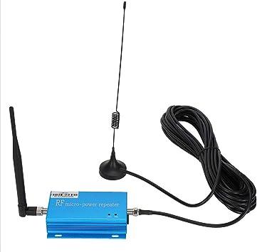 Amplificador de señal de teléfono, repetidor de Amplificador de señal de teléfono móvil con Cable de Ventosa de 10 m Juego de Antena pequeña (Enchufe ...