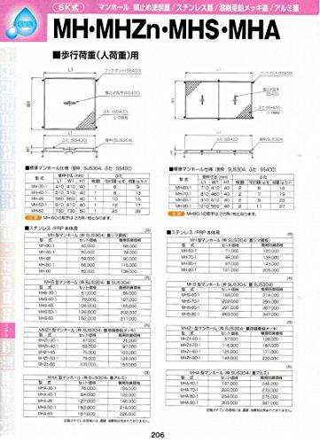 MHS型マンホール(枠SUS304 / 蓋SUS304) MHS-60-1 セット価格 B071LSKWZ9  セット価格