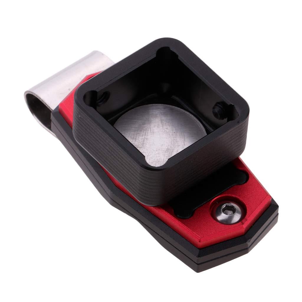 perfeclan Set Mit 2 Magnetischen Billard Kreidehalter Pool Queue Sticks Zubeh/ör Mit Clip