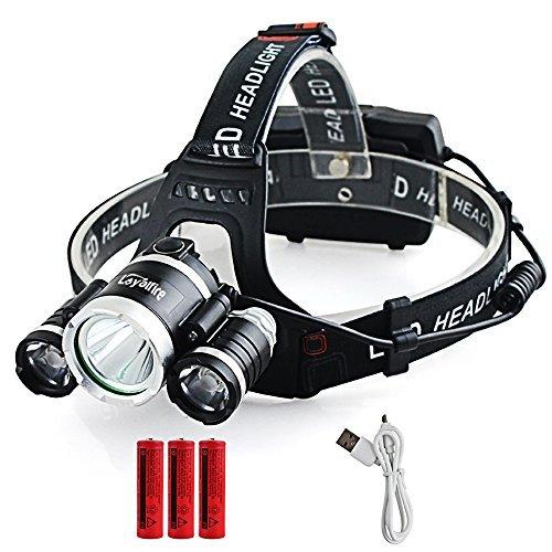 Motion Sensor Headlamp, Loyalfire 6000 Lumens 3 Headlamp XML-T6 Bright Light 4 Modes Waterproof Headlight Flashlight with Induction Power Bank 18650 Battery USB Rechargeable for Camping Running Hiking