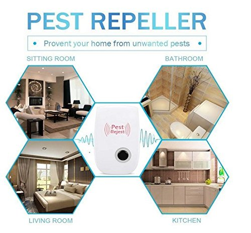 by Three Trade Ultrasonic Pest Repellent-Electronic Plug Pest Control Ultrasonic Pepeller Mice,Roaches,Spiders,Other Insects,Non-toxic Environment-friendly, Humans & Pets Safe (1 Pack)