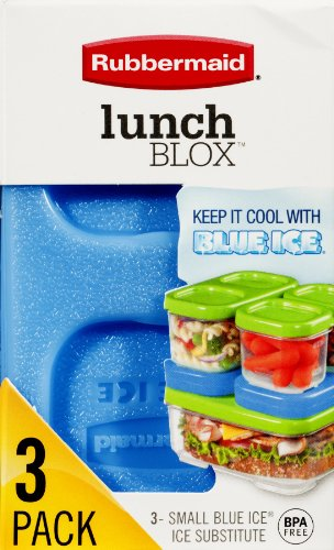 Price comparison product image Rubbermaid Lunch Blox Small Blue Ice Subsitute 3 CT (Pack of 4)