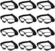 Liberty Imports Pack of 12 Basketball Dribbling Glasses No Look Eye Goggles Dribble Specs Team Training Aid Sp