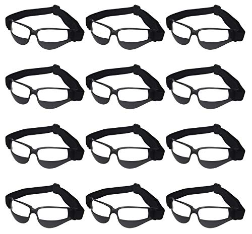 Training Glasses - Liberty Imports Pack of 12 Basketball Dribbling Glasses No Look Eye Goggles Dribble Specs Team Training Aid Sports Equipment