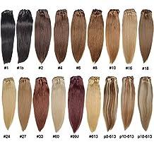 Brazilian Human Hair Clip-in Hair Bang Full Fringe Short Straight Hair Extension for women 6-8inch (27/613)
