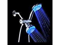 Ana Bath LSS5430CCP 4 Inch 5 Function LED Handheld Shower and LED Showerhead Combo Shower System, Chrome Plated Finish