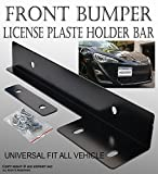 ICBEAMER Aluminum Bumper Front Auto License Plate Mount Relocate Universal Bracket Fit Most Vehicle [Color: Black]