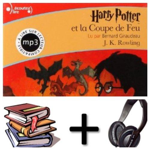 Harry Potter, IV : Harry Potter Et La Coupe De Feu Audiobook PACK  Book + 3 CD MP3 French Edition