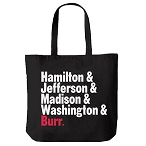 226cc365b84354 Amazon.com: Official Hamilton An American Musical Names Tote Bag: Computers  & Accessories