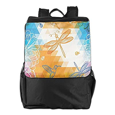 8d2f4603a9d best Newfood Ss Geometric Triangles With Sketches Of Birds Butterfly  Ladybug And Dragonfly Pattern Outdoor Travel