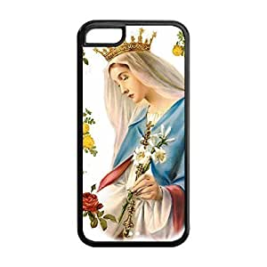 diy phone caseCustom DIY Virgin Mary Christian and Child Baby Jesus Durable TPU Back Case for iphone 5/5s (Black 020341)diy phone case
