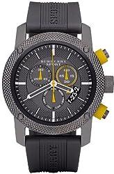 Burberry BU7713 Chronograph Endurance Grey Rubber Strap Sport Men's Watch New