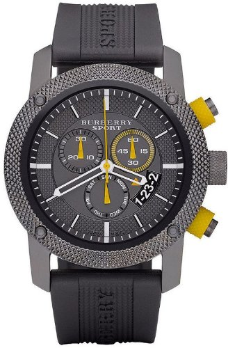 amazon com burberry bu7713 chronograph endurance grey rubber amazon com burberry bu7713 chronograph endurance grey rubber strap sport men s watch new watches