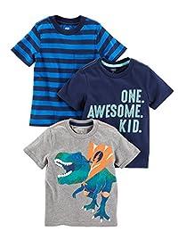 Simple Joys by Carter's - Juego de 3 Camisetas de Manga Corta para niño