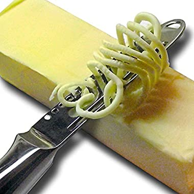 Butter Knife Magic Butter Spreader One-Piece Ergonomic design with 3 functions, grater, slicer and curler