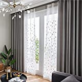 Cheap BigTown Solid Insulated Thermal Blackout Curtains Modern Linen Meteor Hemp Window Treatment Drapes for Bedroom 2 Panels Set – 8 Grommets per Panel – 8 Grommets per Panel (Grey, 100″ W x 96″ L)