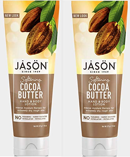 Hand and Body Lotion Softening Cocoa Butter (Pack of 2) With Aloe Vera Leaf, Sunflower Seed Oil, Cocoa Seed Butter, Avocado Oil, Matricaria Flower, Allantoin, Panthenol and Dimethicone, 8 oz. each