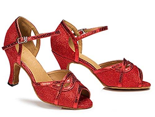 MGM-Joymod - Jazz Y Contempóraneo de Sintético Mujer Red/7.5cm Heel