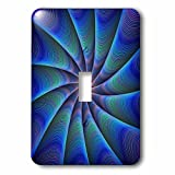 3dRose David Zydd - Colorful Abstract Designs - Path to Meditation - blue colorful fractal design - Light Switch Covers - single toggle switch (lsp_286803_1)