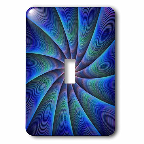 3dRose David Zydd - Colorful Abstract Designs - Path to Meditation - blue colorful fractal design - Light Switch Covers - single toggle switch (lsp_286803_1) by 3dRose