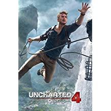 Uncharted 4 Poster - A Thief's End Jump (61cm x 91,5cm) + 1 pair of transparent poster hangers