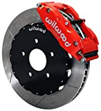 "NEW WILWOOD FRONT DISC BRAKE KIT, 14"" ROTORS, RED SUPERLITE 6 PISTON CALIPERS, PADS, 1994 - 2004 FORD MUSTANG BASE, GT, BULLITT, MACH 1, 1994, 1995, 1996, 1997, 1998, 1999, 2000, 2001, 2002"