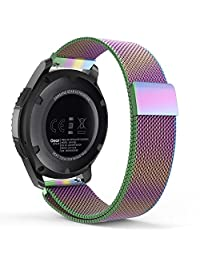 MoKo Gear S3 Watch Band, Milanese Loop Stainless Steel Mesh Smart Watch Strap for Samsung Gear S3 Frontier / S3 Classic / Moto 360 2nd 46mm Smartwatch, Colorful (NOT FIT S2 & S2 Classic & Fit2)