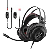 Lemumu Ajazz one3 collective fashions 7.1 surround sound headphones earphone for the game, usb, Black