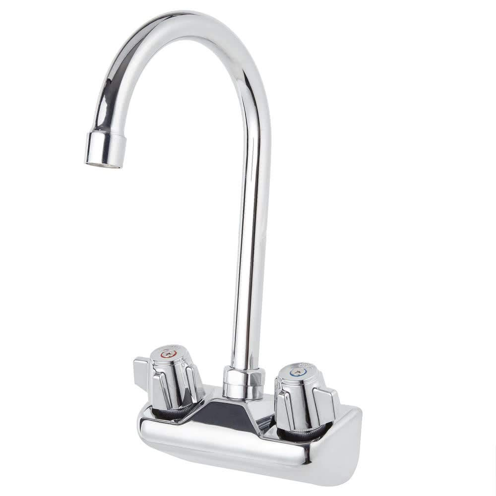 Commercial Hand Sink Replacement Faucet Large Goose Neck Stainless Steel NSF Fits Any 4'' Center
